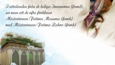 Photo of Mästarinnan Fatima Masuma (fvmh) –  en kvinna som Gud älskar