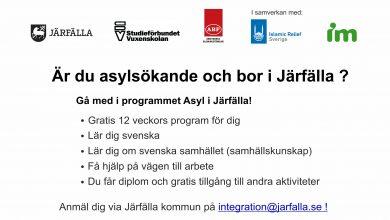 Photo of Är du asylsökande och bor i Järfälla ?
