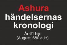 Photo of Ashura händelsernas kronologi – År 61 hijri