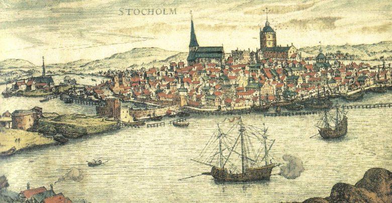 Stockholm 1560s copperplate Frantz Hogenberg Bilkälla: femsmahus.se